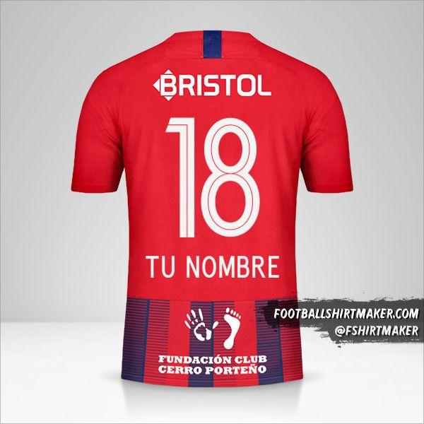 Jersey Club Cerro Porteño 2019 número 18 tu nombre