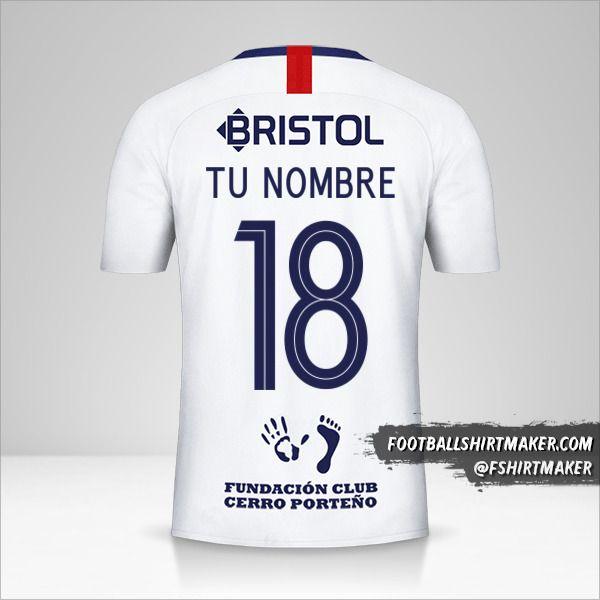 Jersey Club Cerro Porteño Libertadores 2019 II número 18 tu nombre