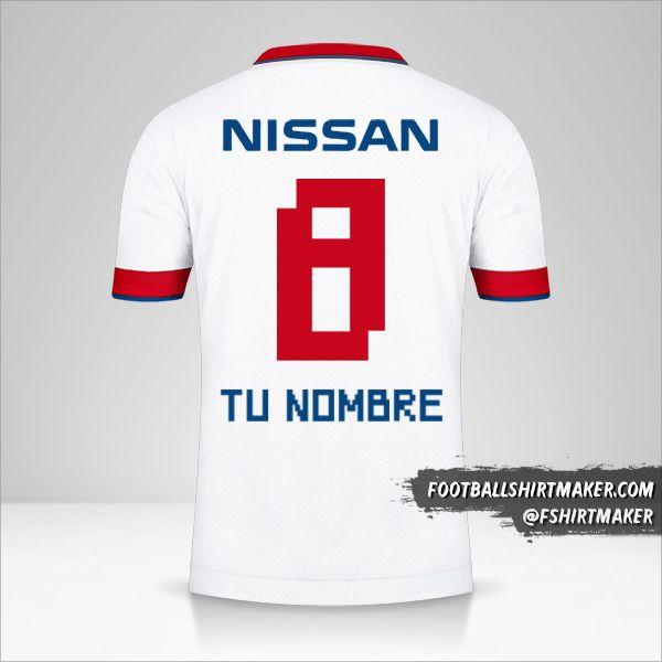 Jersey Club Nacional 2020 número 8 tu nombre