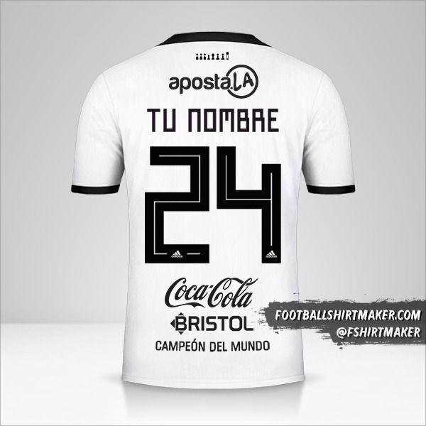 Jersey Club Olimpia Libertadores 2019 número 24 tu nombre
