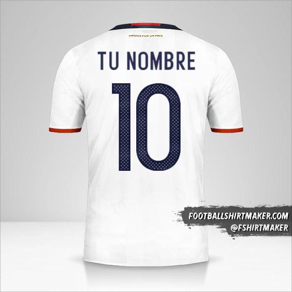 Jersey Colombia 2016 número 10 tu nombre