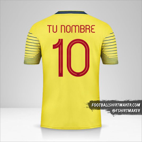 Jersey Colombia 2019/20 número 10 tu nombre