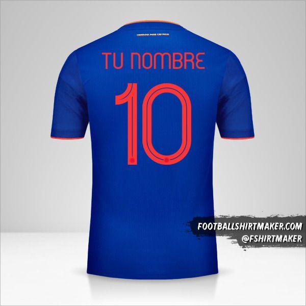 Jersey Colombia 2019 II número 10 tu nombre