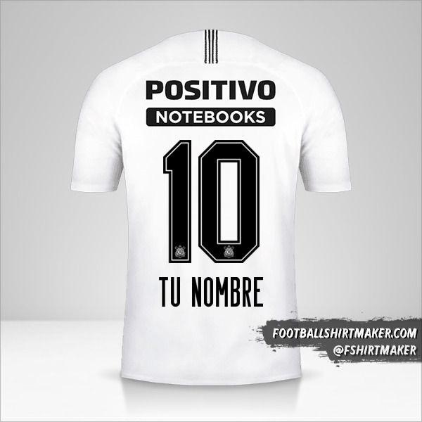Jersey Corinthians 2018/19 número 10 tu nombre