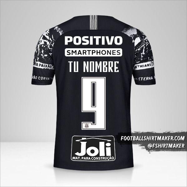 Jersey Corinthians 2019/20 III número 9 tu nombre