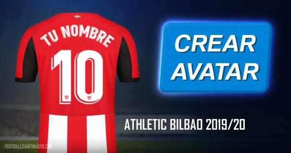 Crear jersey Athletic Bilbao 2019/20 con tu Nombre y Número