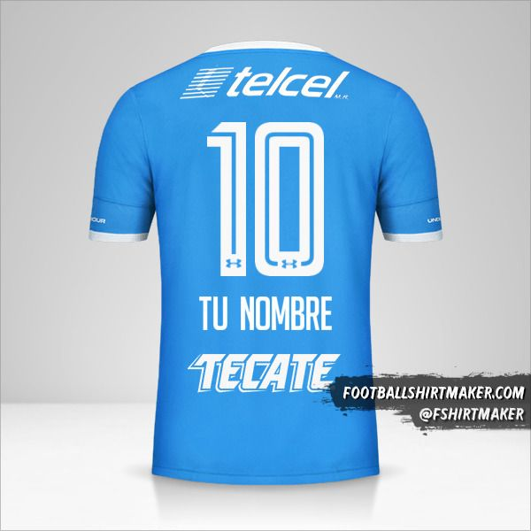 Jersey Cruz Azul 2016/17 número 10 tu nombre