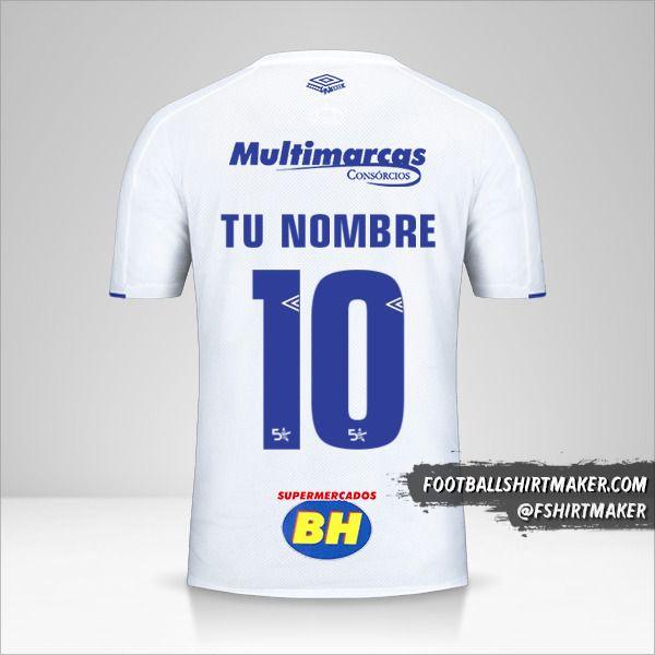 Jersey Cruzeiro 2019/20 II número 10 tu nombre