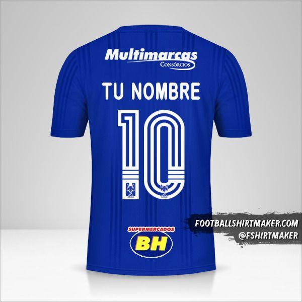 Jersey Cruzeiro 2020 número 10 tu nombre