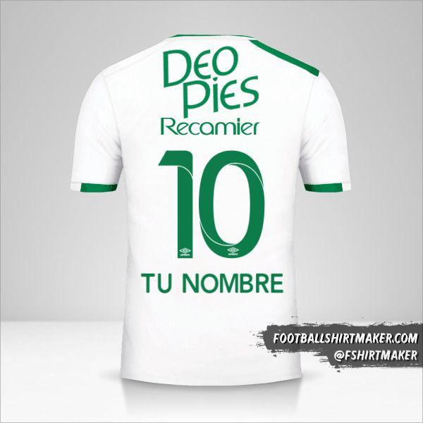Jersey Deportivo Cali 2017 II número 10 tu nombre