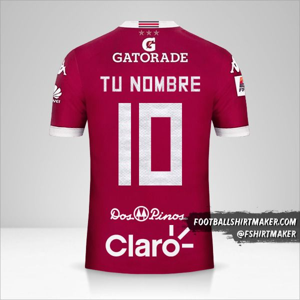 Jersey Deportivo Saprissa 2016 número 10 tu nombre