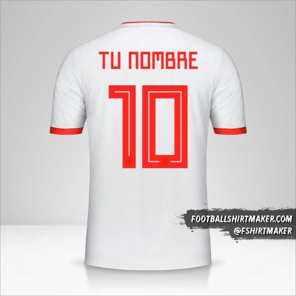 Jersey España 2018 II número 10 tu nombre
