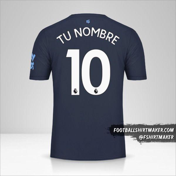 Jersey Everton FC 2019/20 III número 10 tu nombre
