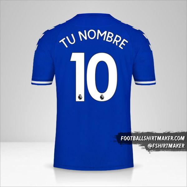 Jersey Everton FC 2020/21 número 10 tu nombre