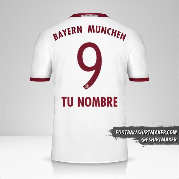 Jersey FC Bayern Munchen 2016/17 III número 9 tu nombre