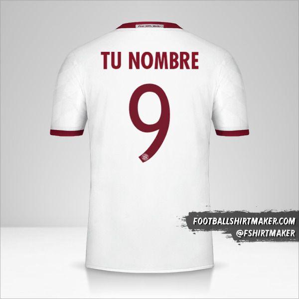 Jersey FC Bayern Munchen 2016/17 Cup III número 9 tu nombre