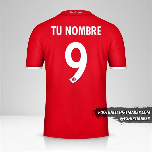 Jersey FC Bayern Munchen 2016/17 Cup número 9 tu nombre