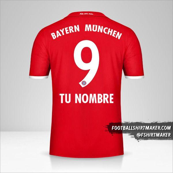 Jersey FC Bayern Munchen 2016/17 número 9 tu nombre
