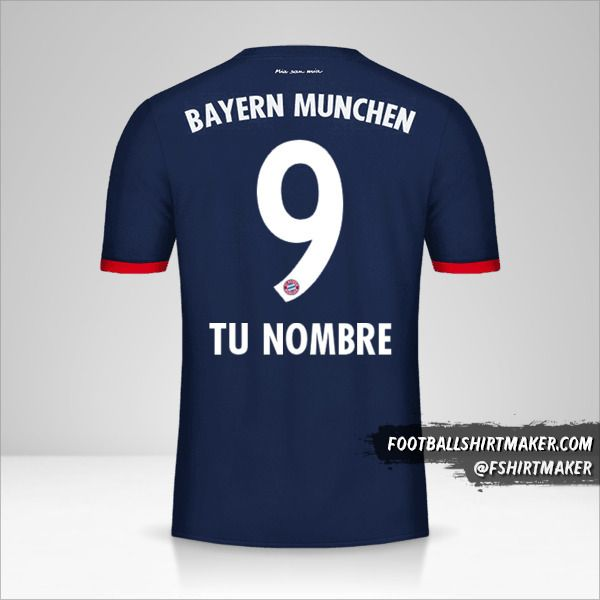 Jersey FC Bayern Munchen 2017/18 II número 9 tu nombre