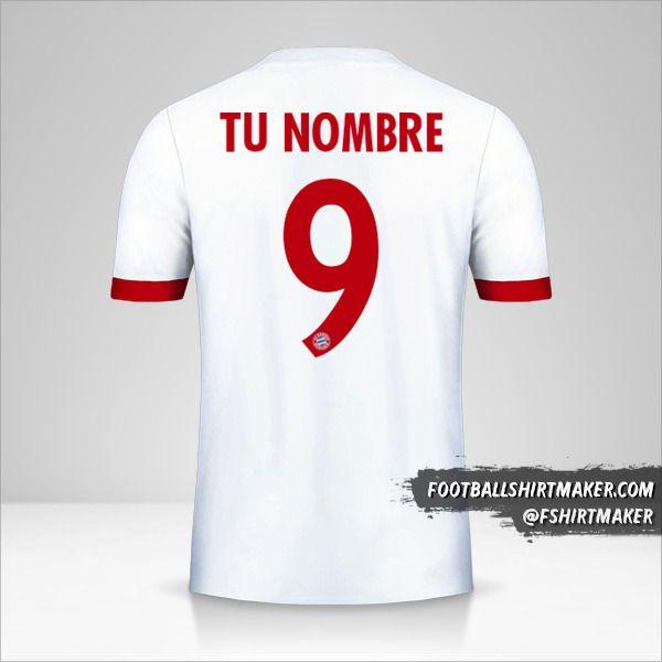 Jersey FC Bayern Munchen 2017/18 Cup III número 9 tu nombre