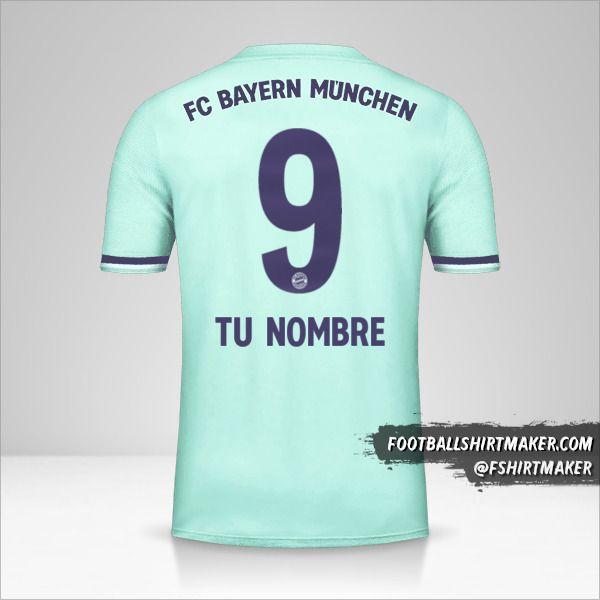Jersey FC Bayern Munchen 2018/19 II número 9 tu nombre