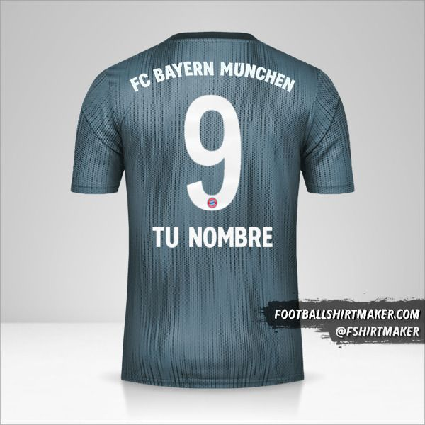 Jersey FC Bayern Munchen 2018/19 III número 9 tu nombre