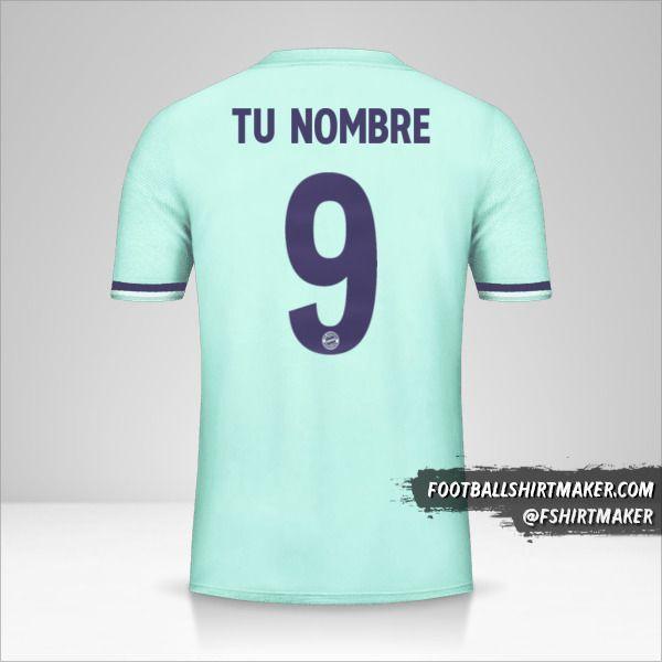 Jersey FC Bayern Munchen 2018/19 Cup II número 9 tu nombre