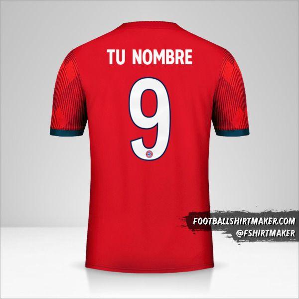 Jersey FC Bayern Munchen 2018/19 Cup número 9 tu nombre