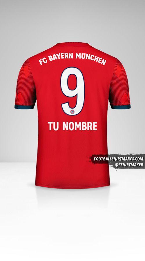 Jersey FC Bayern Munchen 2018/19 número 9 tu nombre