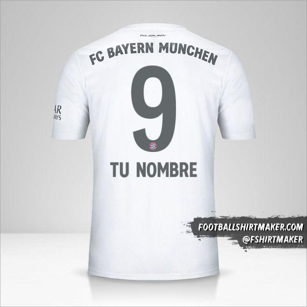 Jersey FC Bayern Munchen 2019/20 II número 9 tu nombre