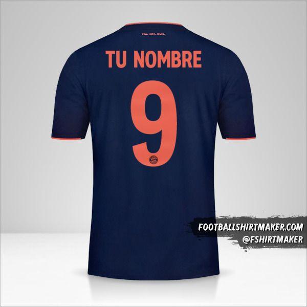 Jersey FC Bayern Munchen 2019/20 UCL número 9 tu nombre