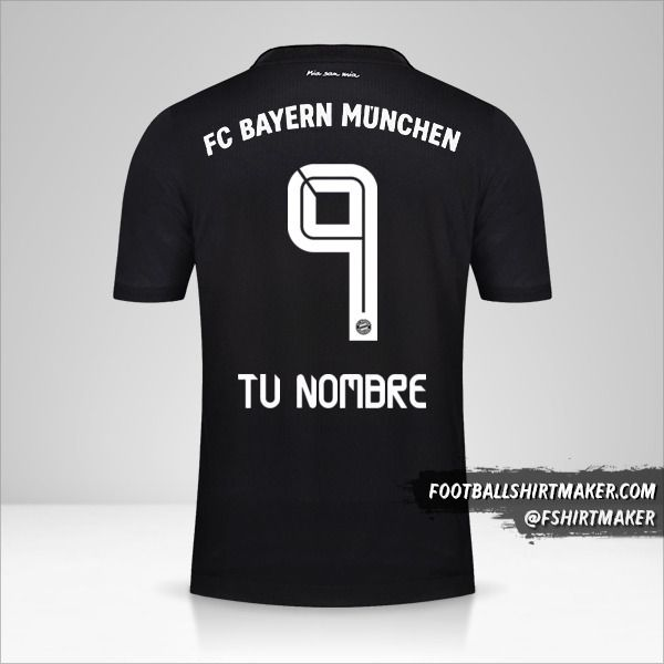 Jersey FC Bayern Munchen 2020/21 III número 9 tu nombre