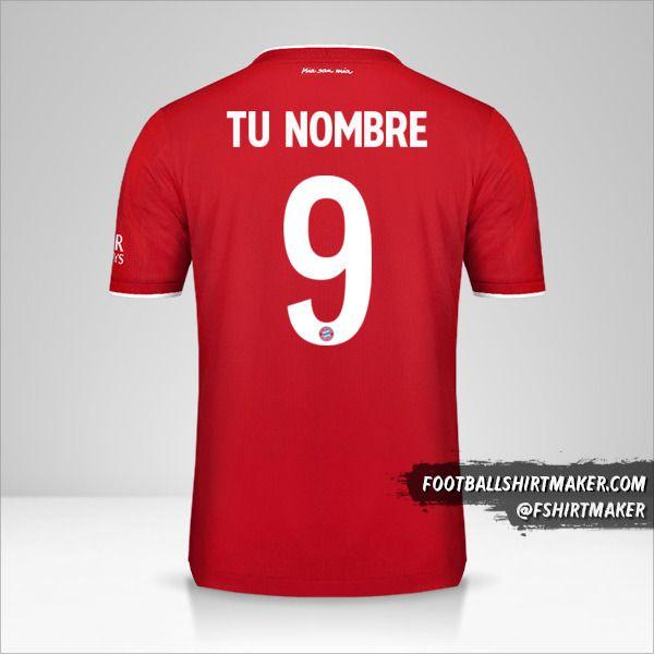 Jersey FC Bayern Munchen 2020/21 Cup número 9 tu nombre