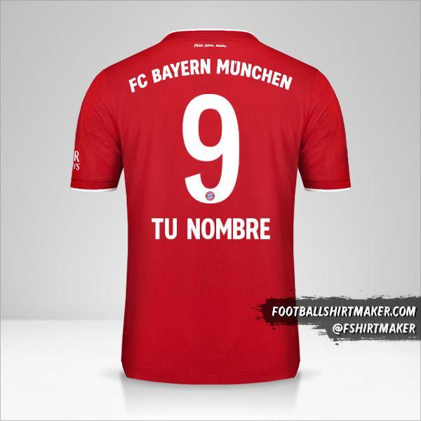 Jersey FC Bayern Munchen 2020/21 número 9 tu nombre