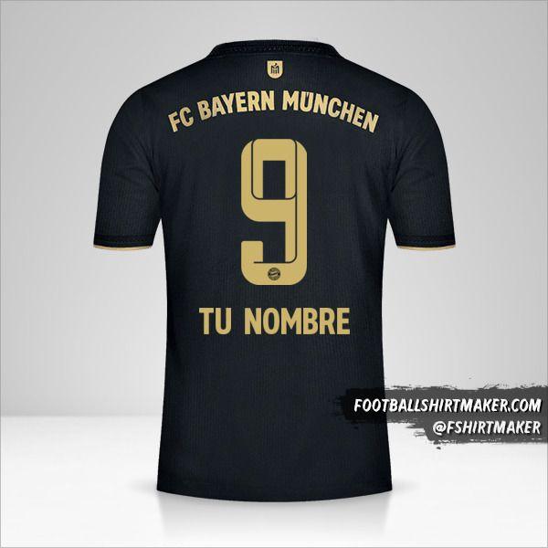 Jersey FC Bayern Munchen 2021/2022 II número 9 tu nombre