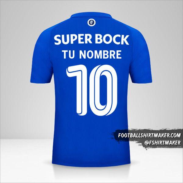 Jersey FC Porto 2018/19 125th Cup número 10 tu nombre
