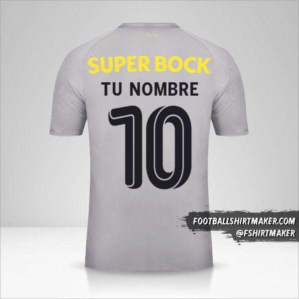 Jersey FC Porto 2018/19 Cup II número 10 tu nombre