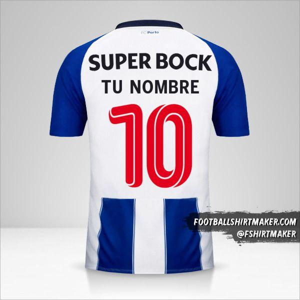 Jersey FC Porto 2018/19 Cup número 10 tu nombre