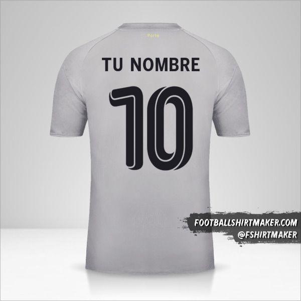 Jersey FC Porto 2018/19 UCL II número 10 tu nombre