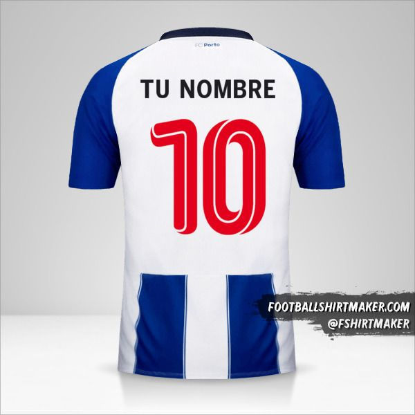 Jersey FC Porto 2018/19 UCL número 10 tu nombre