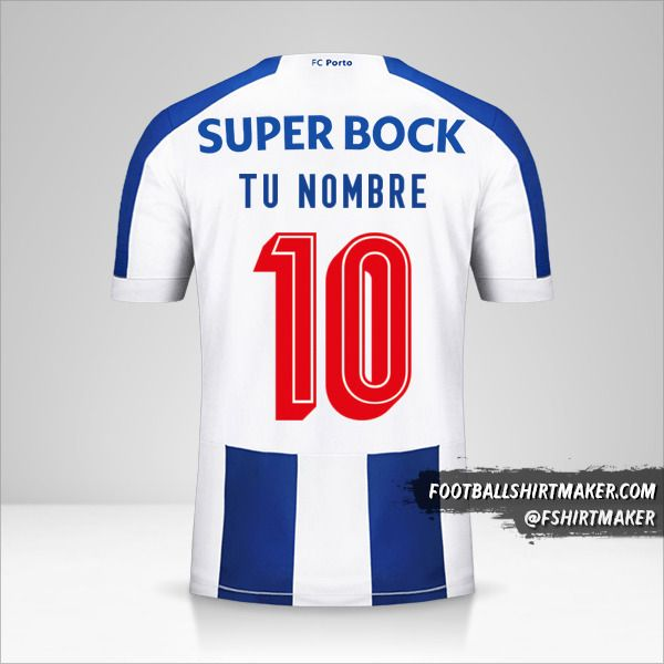 Jersey FC Porto 2019/20 Cup número 10 tu nombre