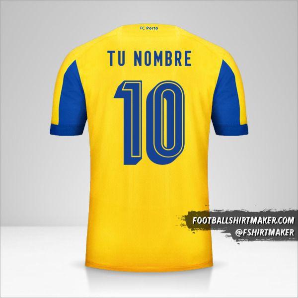 Jersey FC Porto 2019/20 UCL II número 10 tu nombre