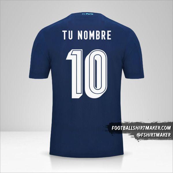 Jersey FC Porto 2019/20 UCL III número 10 tu nombre