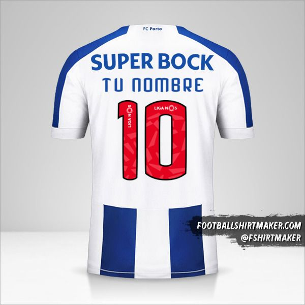 Jersey FC Porto 2019/20 número 10 tu nombre