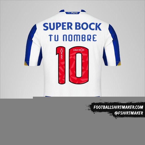 Jersey FC Porto 2020/21 número 10 tu nombre