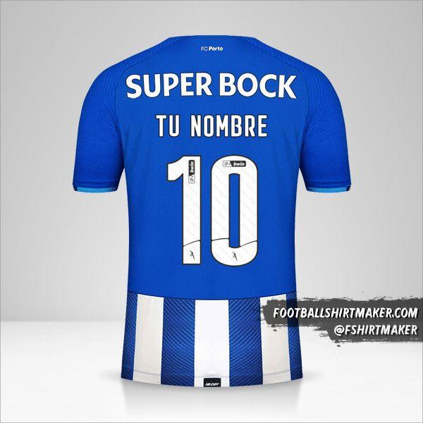 Jersey FC Porto 2021/2022 número 10 tu nombre