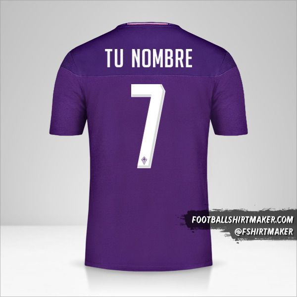 Jersey Fiorentina 2019/20 número 7 tu nombre