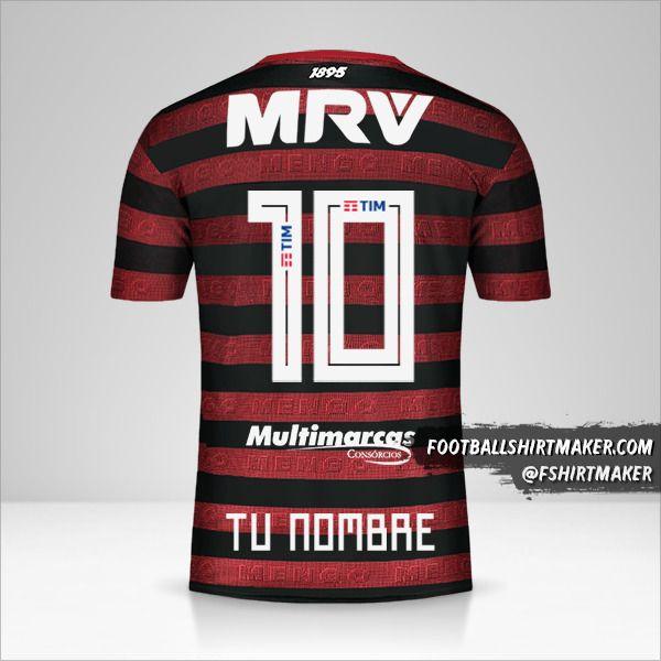 Jersey Flamengo 2019 número 10 tu nombre
