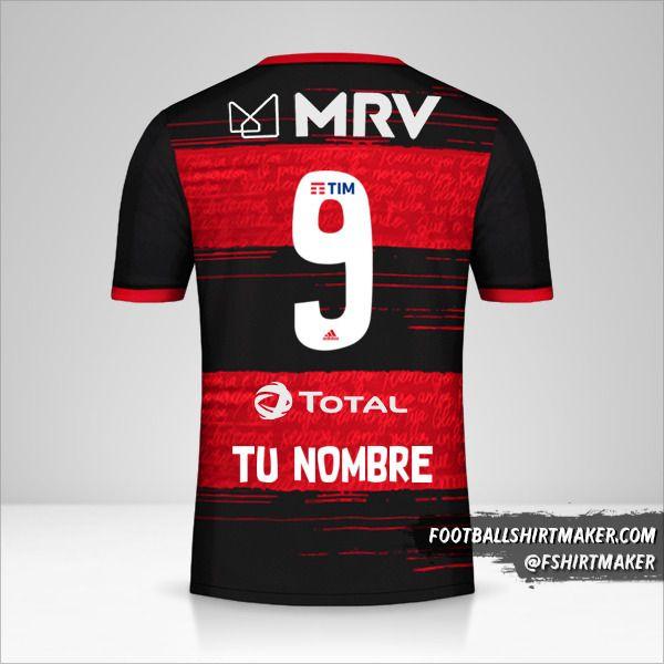 Jersey Flamengo 2020 número 9 tu nombre