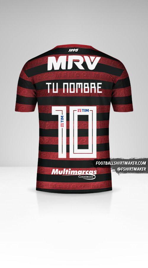Jersey Flamengo Libertadores 2019 número 10 tu nombre